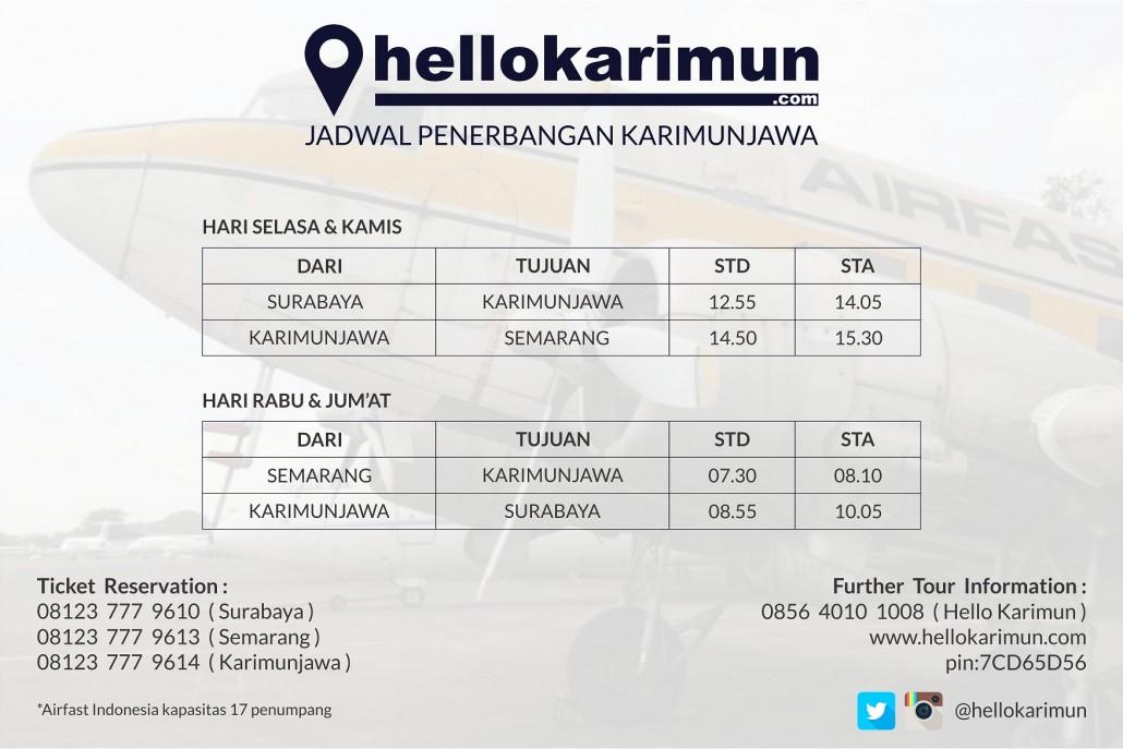 Paket Wisata Karimunjawa Tarif Tiket Dan Jadwal Penerbangan Karimunjawa